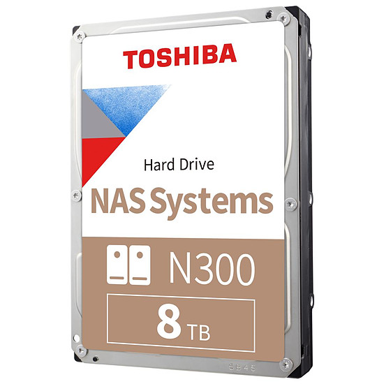 Disque dur interne Toshiba N300 - 8 To - 128 Mo