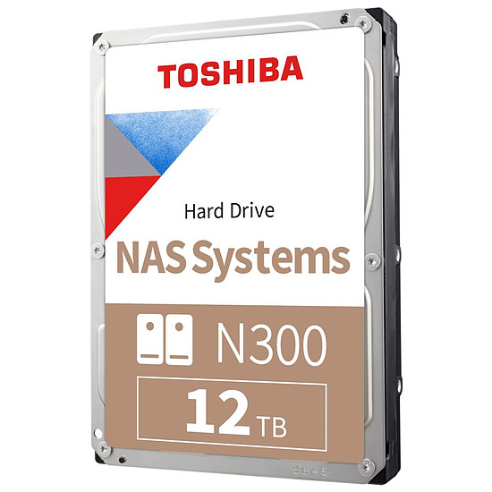 Disque dur interne Toshiba N300 - 2 x 12 To (24 To) - 256 Mo