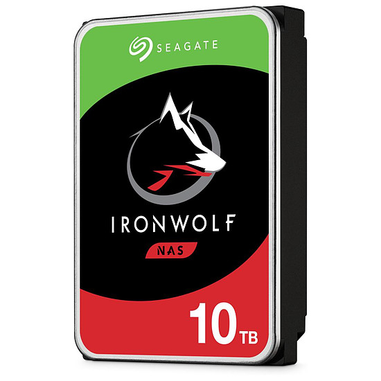 Disque dur interne Seagate IronWolf - 4 x 10 To (40 To) - 256 Mo