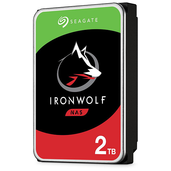 Disque dur interne Seagate IronWolf - 2 x 2 To (4 To) - 64 Mo