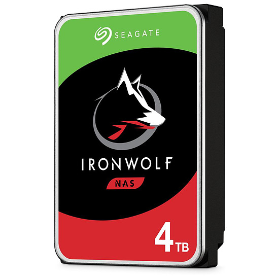 Disque dur interne Seagate IronWolf - 2 x 4 To (8 To) - 64 Mo