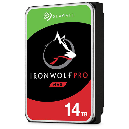 Disque dur interne Seagate IronWolf Pro - 2 x 14 To (28 To) - 256 Mo