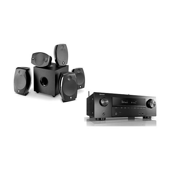 Ensemble Home-Cinéma Denon AVR-X1600H + Focal Sib Evo 5.1.2 Dolby Atmos Noir
