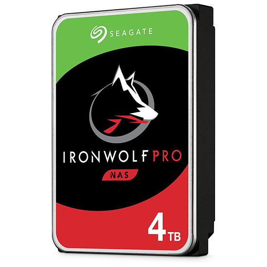 Disque dur interne Seagate IronWolf Pro - 4 x 4 To (16 To) - 128 Mo
