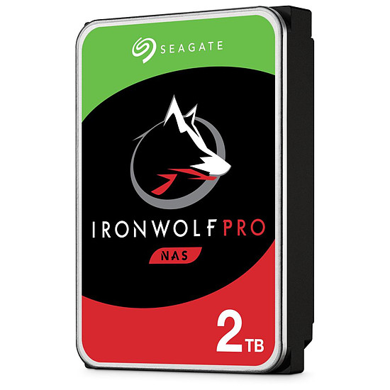 Disque dur interne Seagate IronWolf Pro - 2 x 2 To (4 To) - 128 Mo