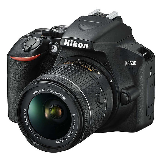 Appareil photo Reflex Nikon D3500 + AF-P DX 18-55 VR + Fourre-tout + Kingston 64Go - Autre vue