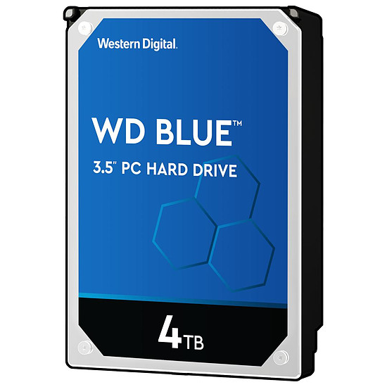 Disque dur interne Western Digital WD Blue - 4 To - 64 Mo