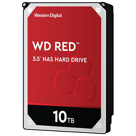 Disque dur interne Western Digital WD Red - 4 x 10 To (40 To) - 256 Mo