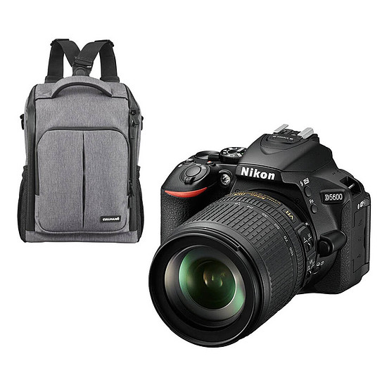 Appareil photo Reflex Nikon D5600 + AF-P 18-55 VR + Cullmann BackPack 200