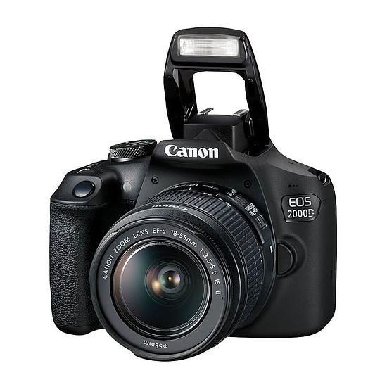 Appareil photo Reflex Canon EOS 2000D + EF-S 18-55 mm + Kingston microSDHC 16 Go - Autre vue