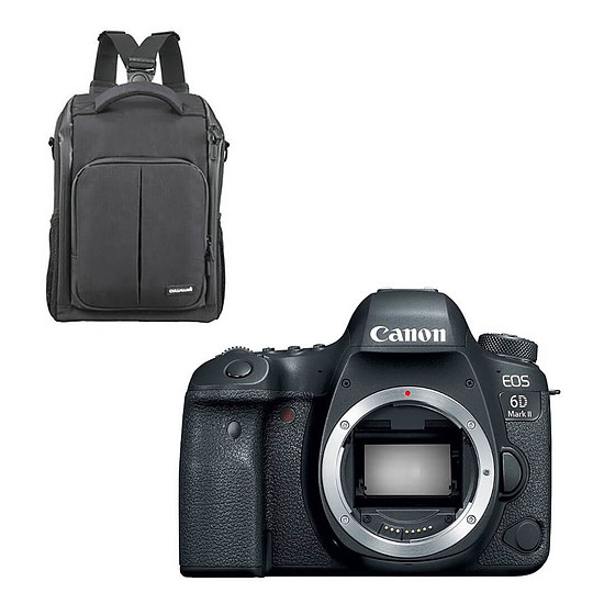 Appareil photo Reflex Canon EOS 6D Mark II Boîtier Nu Noir + Cullmann BackPack 200