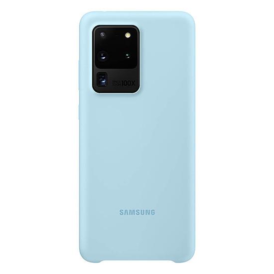 Coque et housse Samsung Coque Silicone Bleu Galaxy S20 Ultra