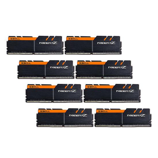 Mémoire G.Skill Trident Z Noir / Orange - 8 x 8 Go (64 Go) - DDR4 3200 MHz - CL16