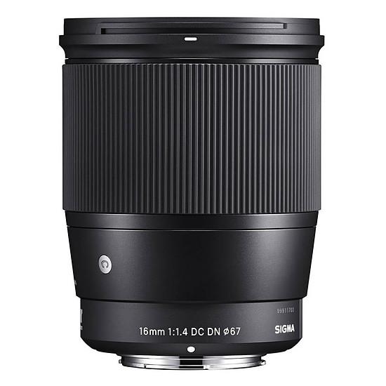 Objectif pour appareil photo SIGMA 16mm F1.4 DC DN Noir monture Micro 4/3