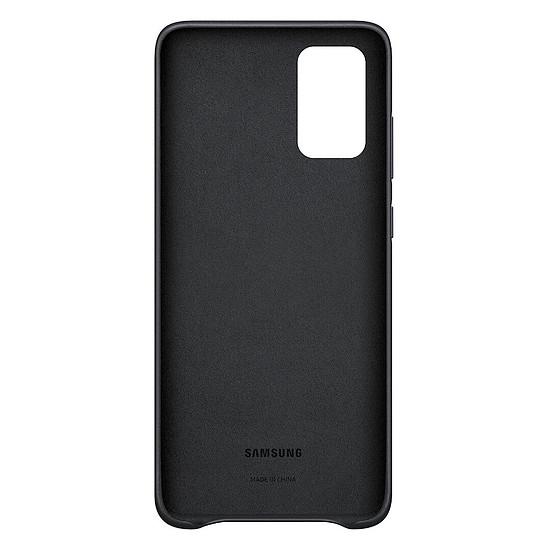 Coque et housse Samsung Coque Cuir Noir Samsung Galaxy S20+ - Autre vue