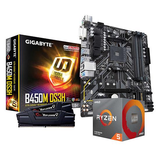 Kit upgrade PC AMD Ryzen 5 3600 + Gigabyte B450M DS3H + G.Skill 2 x 8 Go 3600 MHz