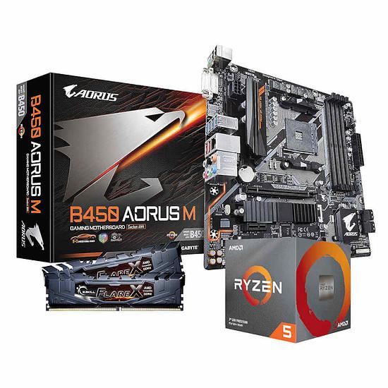 Kit upgrade PC AMD Ryzen 5 3600 + Gigabyte B450 Aorus M + G.Skill 2 x 8 Go 3200 MHz