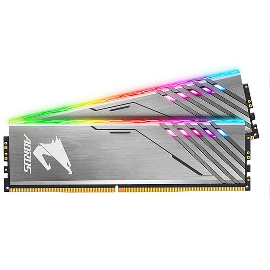 Mémoire Gigabyte Aorus RGB Argent- 2 x 8 Go (16 Go) - DDR4 3200 MHz - CL16