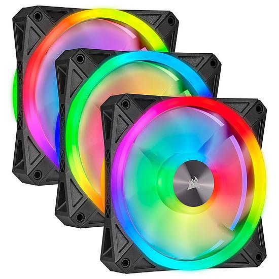 Ventilateur Boîtier Corsair QL120 RGB - Pack de 3 + Node Core