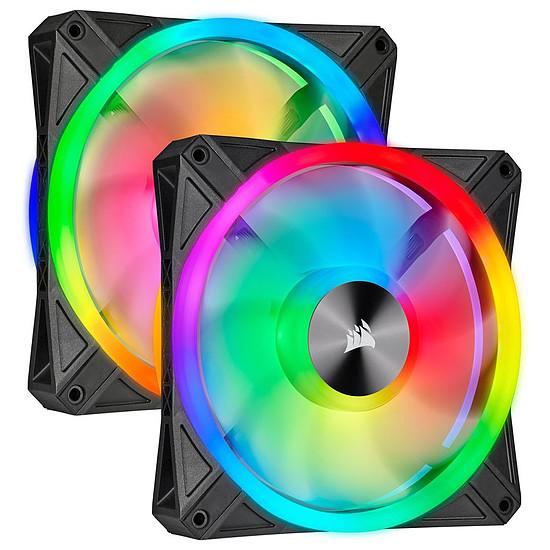 Ventilateur Boîtier Corsair QL140 RGB - Pack de 2 + Node Core