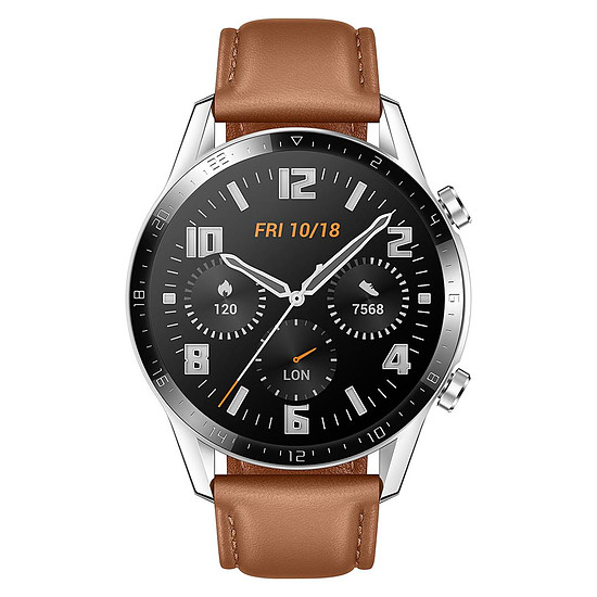 Montre connectée Huawei Watch GT 2 Marron - GPS - 46 mm