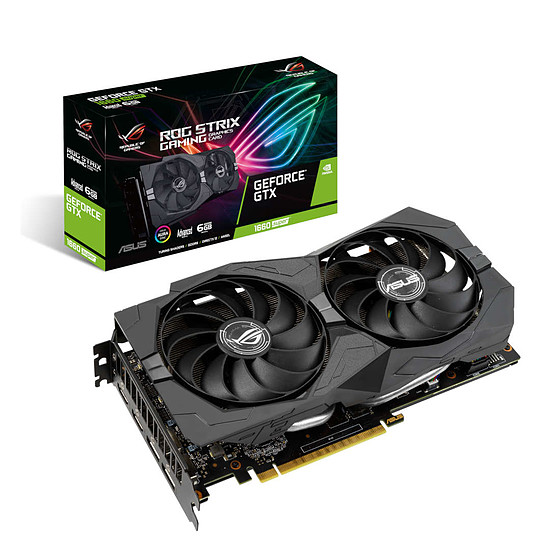 Carte graphique Asus GeForce GTX 1660 SUPER ROG STRIX A6G