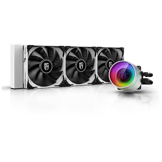 Refroidissement processeur Deepcoll Gamer Storm Castle 360EX ARGB - Blanc