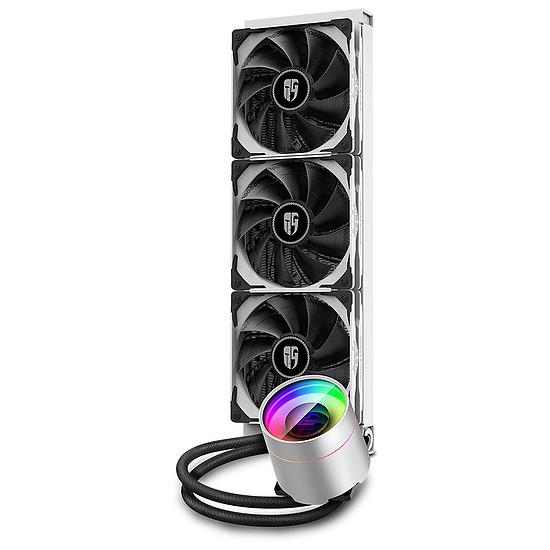 Refroidissement processeur Deepcoll Gamer Storm Castle 360EX ARGB - Blanc - Autre vue