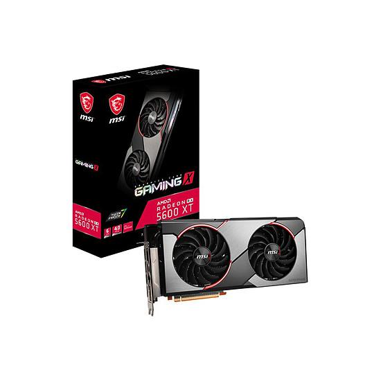 Carte graphique MSI Radeon RX 5600 XT Gaming X (GDDR6 14 Gbit/s)