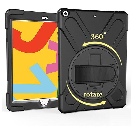 Accessoires tablette tactile Akashi Coque renforcée (noir) - Apple iPad 10.2