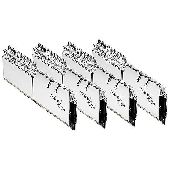 Mémoire G.Skill Trident Z Royal Silver RGB - 4 x 32 Go (128 Go) - DDR4 3600 MHz - CL16