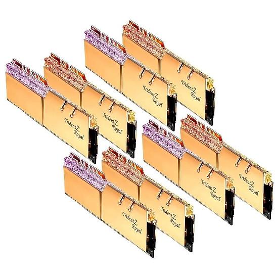 Mémoire G.Skill Trident Z Royal Gold RGB - 8 x 32 Go (256 Go) - DDR4 3600 MHz - CL18