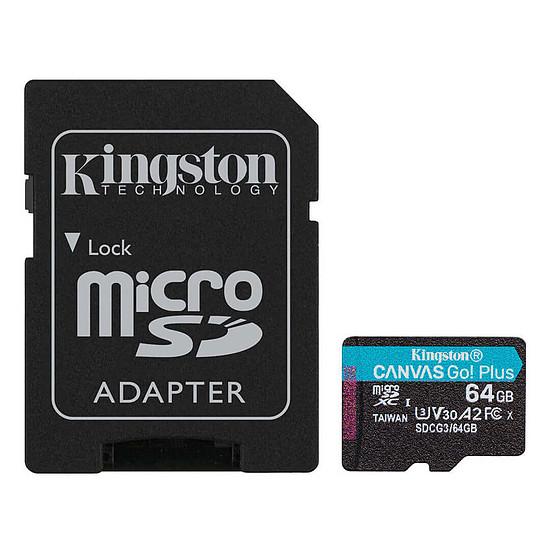 Carte mémoire Kingston Canvas Go! Plus SDCG3/64GB