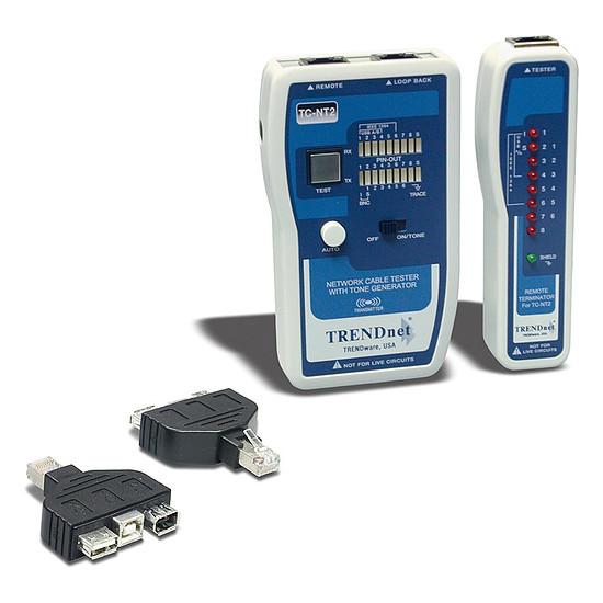 Outillage Testeur de câbles réseau avec adaptateur USB et FireWire