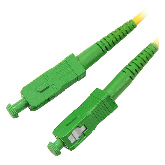Câble fibre Optique Jarretière optique simplex monomode 9/125 SC-APC/SC-APC - 15 m