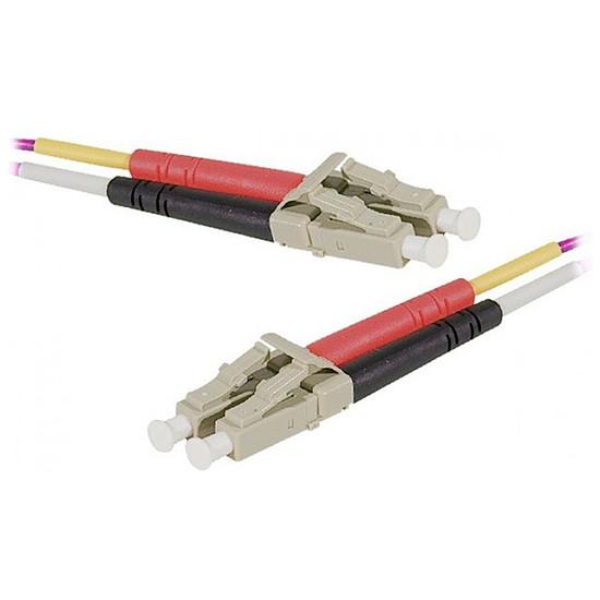 Câble fibre Optique Jarretière optique duplex multimode 2mm OM4 LC-UPC/LC-UPC - 2 m