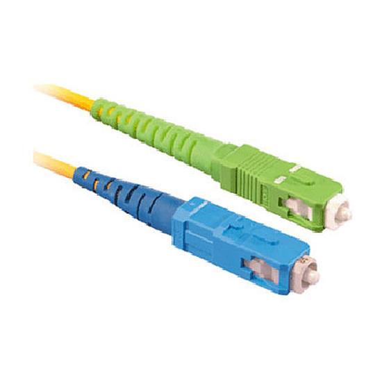 Câble fibre Optique Jarretière optique simplex monomode 9/125 SC-APC/SC-UPC - 20 m