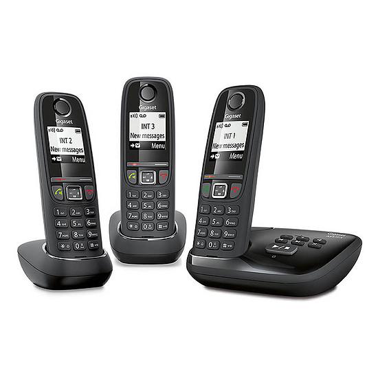 Téléphone fixe sans fil Gigaset AS470A Trio Noir