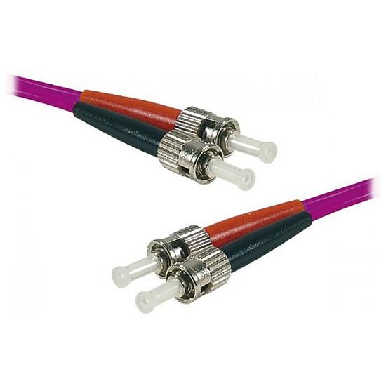 Câble fibre Optique Jarretière optique duplex multimode 2mm OM4 ST-UPC/ST-UPC - 1 m