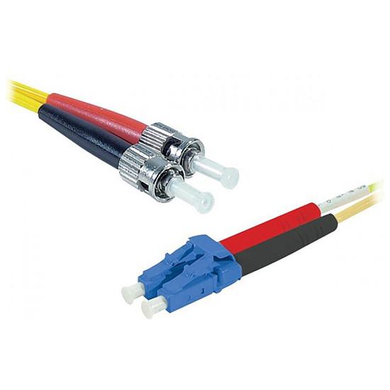 Câble fibre Optique Jarretière optique duplex monomode 2mm OS2 LC-UPC/ST-UPC - 2 m