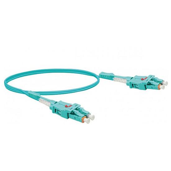 Câble fibre Optique Jarretière optique duplex uniboot 2mm OM3 LC-UPC/LC-UPC Bleu - 5 m