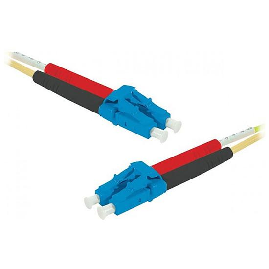 Câble fibre Optique Jarretière optique duplex monomode 2mm OS2 LC-UPC/LC-UPC - 3 m