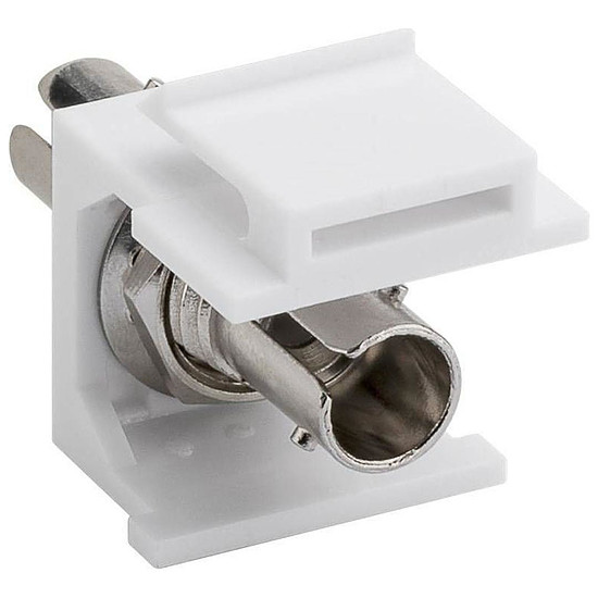 Câble fibre Optique Coupleur fibre optique ST Simplex pour boitier réseau type Keystone
