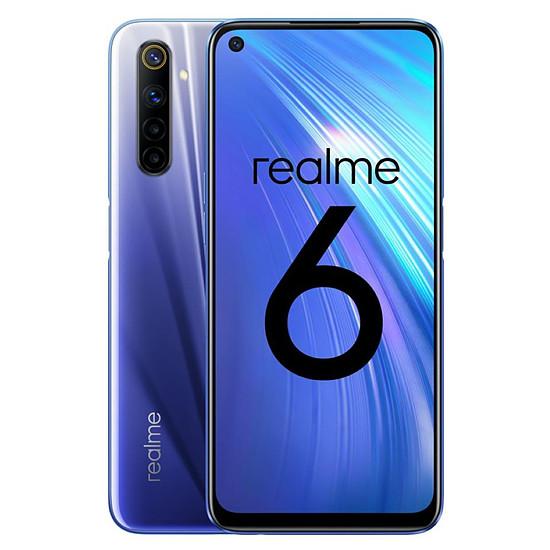 Smartphone et téléphone mobile Realme 6 Bleu - 128 Go - 8 Go