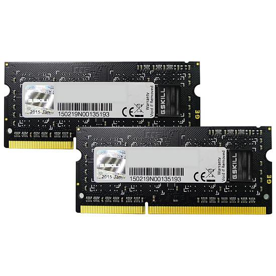 Mémoire G.Skill SO-DIMM DDR3 2 x 4 Go 1066 MHz SQ CAS 7