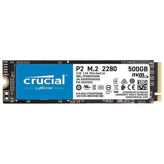 Disque SSD Crucial P2 - 500 Go