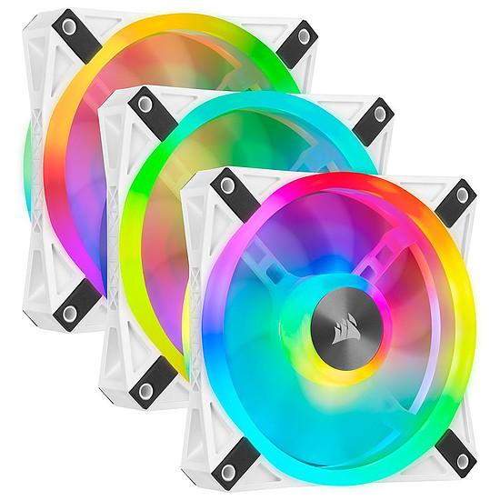 Ventilateur Boîtier Corsair QL120 RGB Blanc - Pack de 3
