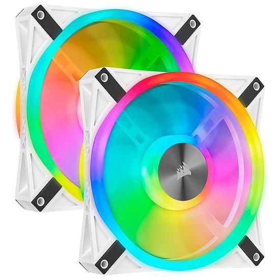 Ventilateur Boîtier Corsair QL140 RGB Blanc - Pack de 2