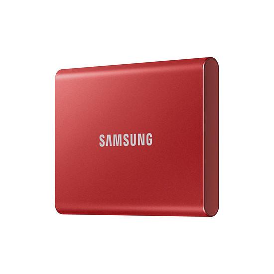 Disque dur externe Samsung T7 Rouge - 500 Go