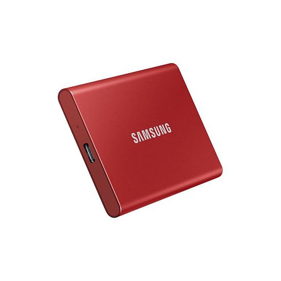 Disque dur externe Samsung T7 Rouge - 500 Go - Autre vue